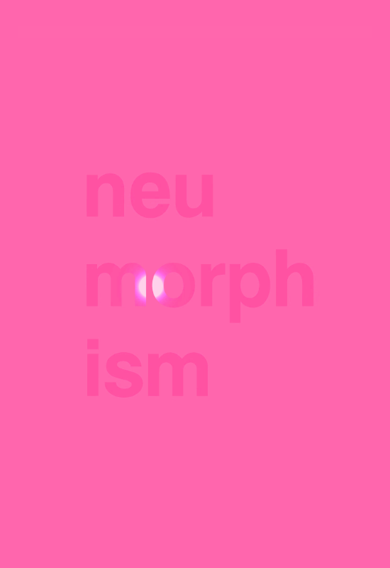 3D Neumorphic Typography Floating Animation With Reflection